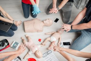 first aid training session