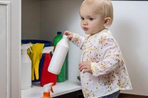 child in danger of poisoning